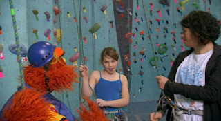 Murray and Ovejita, Murray Has a Little Lamb, rock climbing school. Sesame Street Episode 4418 The Princess Story season 44