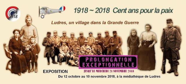 """LUDRES (54) - Prolongation de l'exposition """"Ludres, un village dans la Grande Guerre"""" (jusqu'au 21 nov. 2018)"""