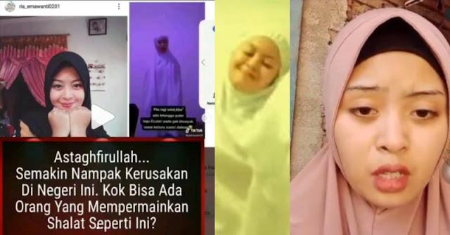 Viral TikTok, Perempuan Joget Saat Sholat Ditangkap Polisi