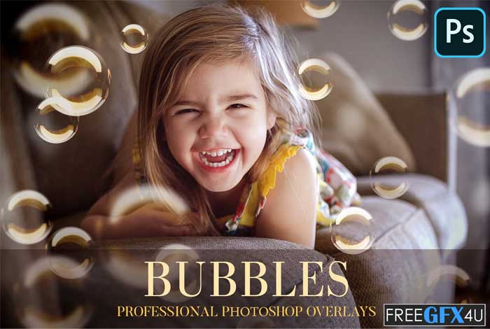 Bubbles Overlays Photoshop