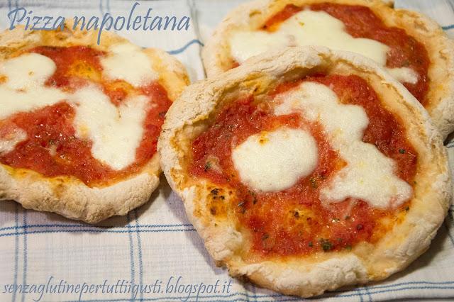 pizza napoletana senza glutine senza amido di frumento e senza lattosio