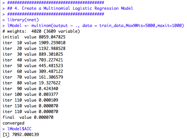 Hand-Written Digit Recognition in R using Multinomial