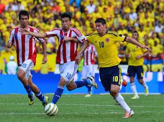 مشاهدة مباراة كولومبيا وباراجواي