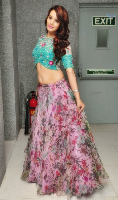 Deeksha Panth in Floral Lehenga at Chal Chal Gurram Audio Launch