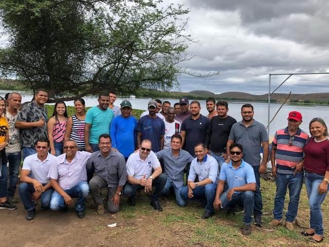 Presidente da Bahia Pesca visita projeto de piscicultura em Itaetê; mais de 300 famílias serão beneficiadas