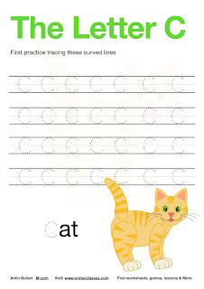 Practice Tracing The Letter C Free Download.