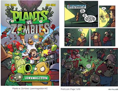 Primer comic del juego plants vs zombies