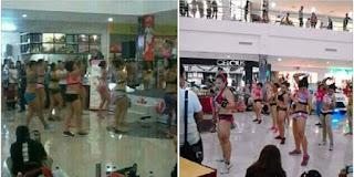 Senam Aerobic Setengah Telanjang di Mall Hebohkan Ponorogo