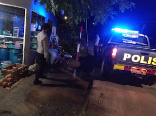 Cegah Tindak Pidana, Personel Polsek Malua Laksanakan Patroli Blue Light