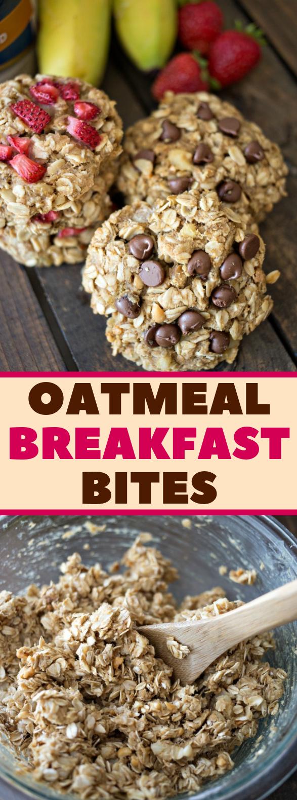 Oatmeal Breakfast Bites #healthy #snacks