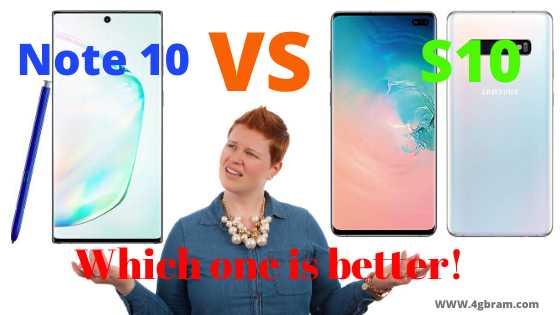 galaxy note 10 vs s10