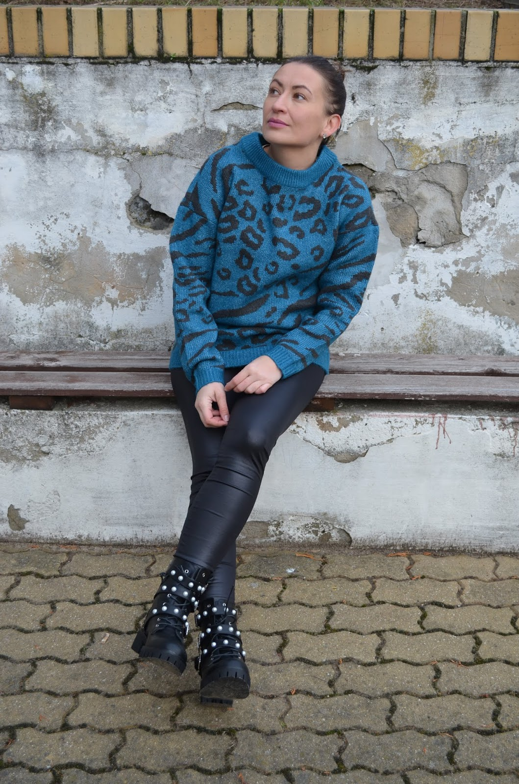 Bonprix Animal Print Sweater and Heavy Boots