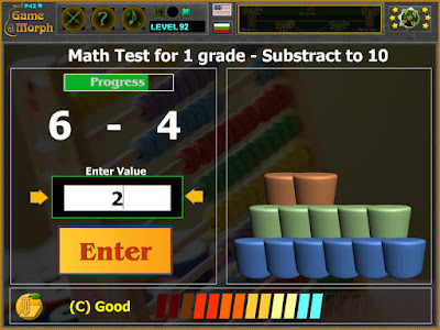 Math Test 1 Grade - Subtract to 10