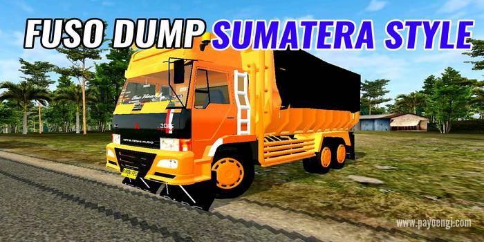 mod fuso dump sumatera style