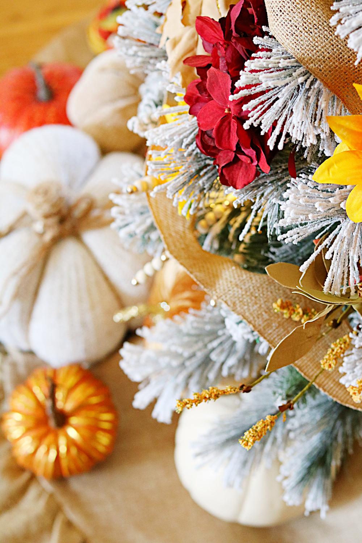 harvest-fall-decorating-decor-tree-pumpkins-burlap-athomewithjemma