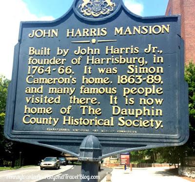 John Harris Mansion Historical Marker in Harrisburg, Pennsylvania