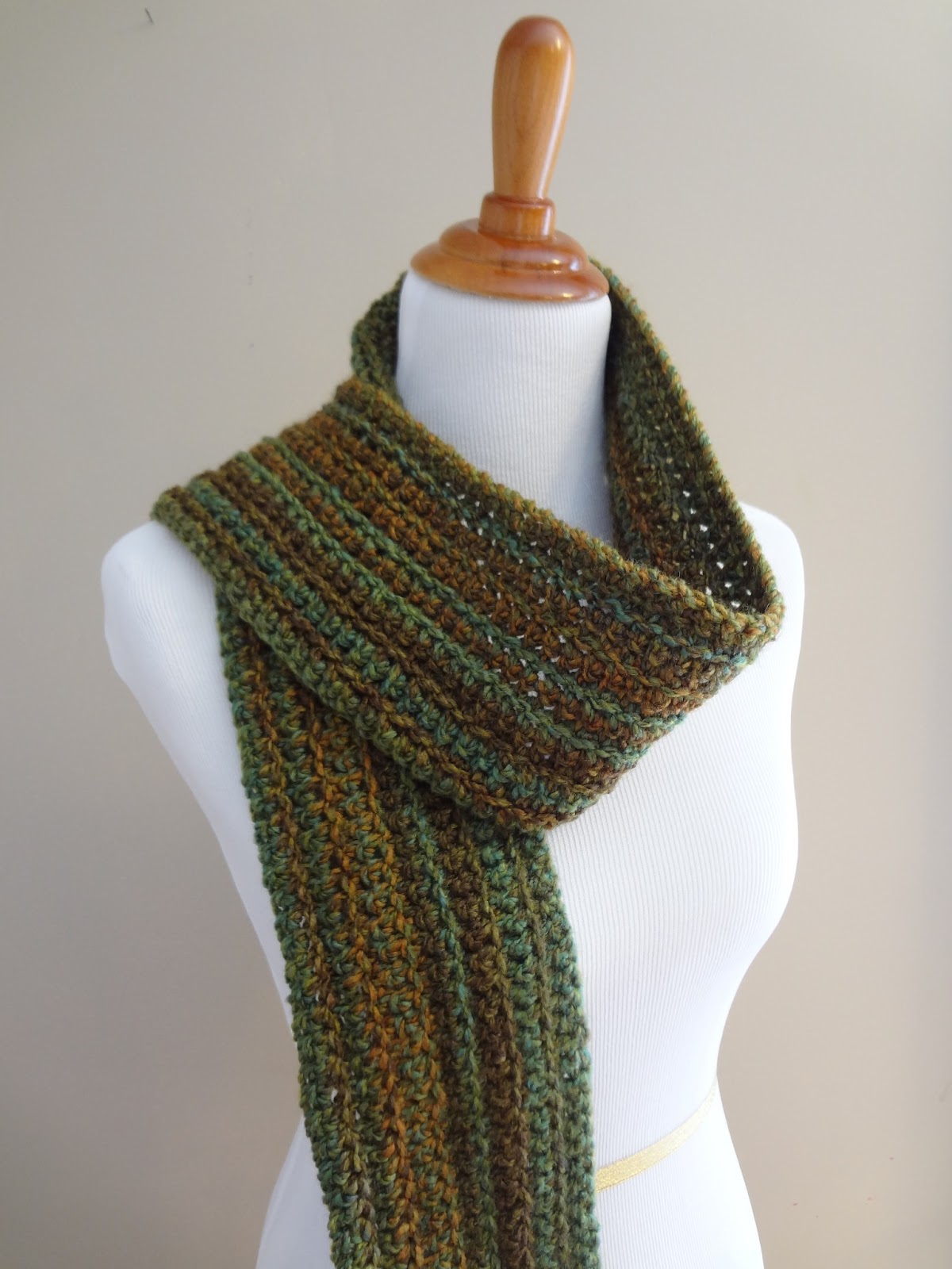 Fiber Flux Free Crochet Patternwise Oak Ribbed Scarf