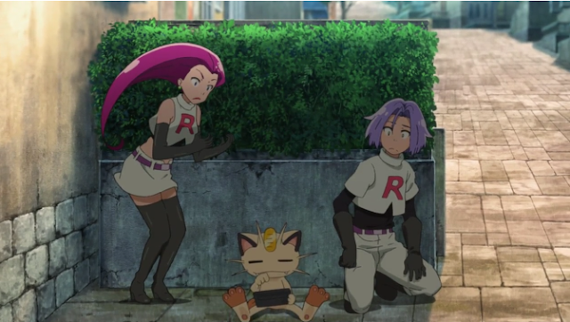 Pokémon the Movie Power of Us Team Rocket uniforms Jessie James Meowth