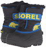 Sorel Childrens Commander-K Snow Boot, Black/Super Blue, 10 M US Toddler