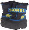 Sorel Childrens Commander-K Snow Boot, Black/Super Blue, 10 M US Toddler