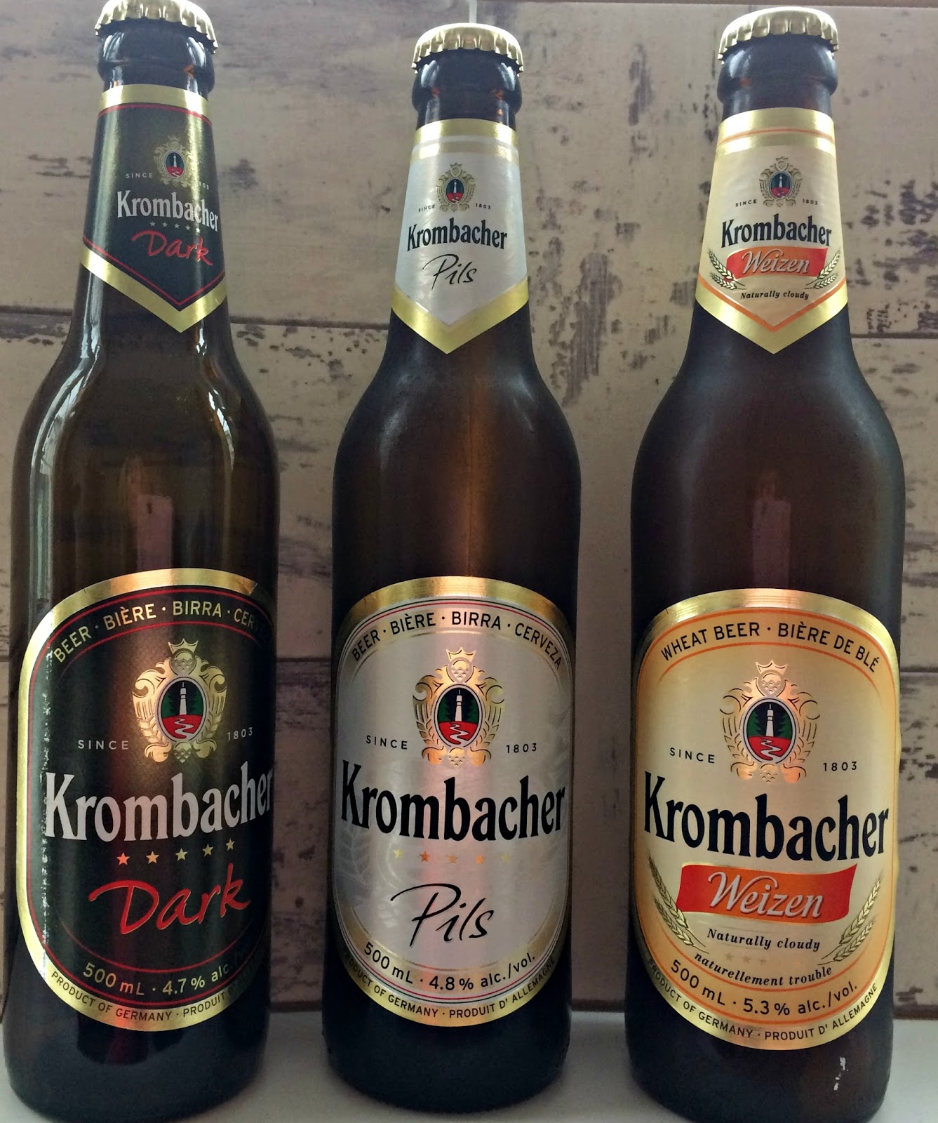 Selection of Krombacher beers