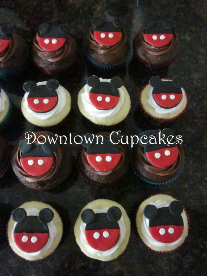 Downtown Cupcakes Mickey Mouse Cupcakes