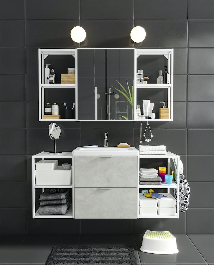 Novedades catálogo IKEA 2021 en baños: nuevo mueble de baño de IKEA.