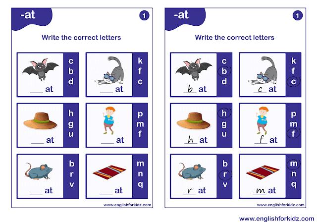 Phonics worksheets for grade 1