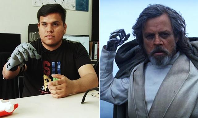 Ingeniero peruano inspirado crea su prótesis de mano inspirado en Luke Skywalker
