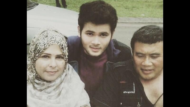 Ridho bersama Rhoma Irama dan Marwah Ali