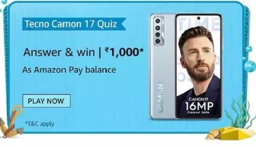What is the camera setup on the Camon 17?