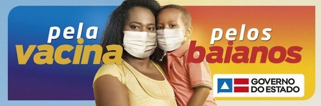 Campanha do Governo do Estado alerta para importância da vacina contra a Covid-19