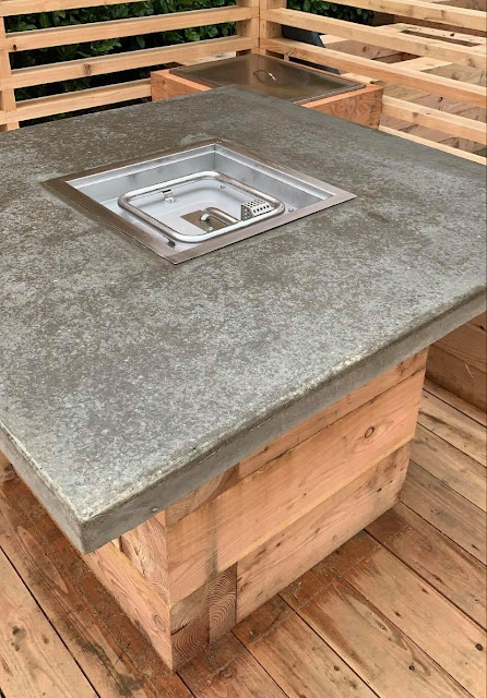 gas and concrete fire pit