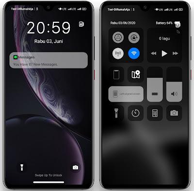 lockscreen Themes Dark iOS 13 oppo & realme