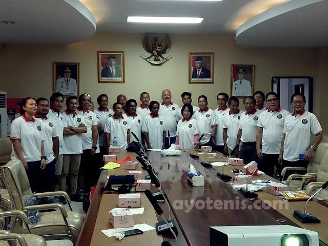 Peserta Antusias Ikuti ITF Play Tennis Course Pengprov PELTI Sulut