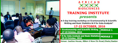 African Biosciences Training Workshop on Grantsmanship and R for Data Analysis
