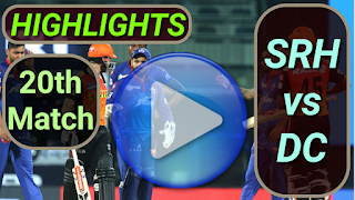 SRH vs DC 20th Match 2021