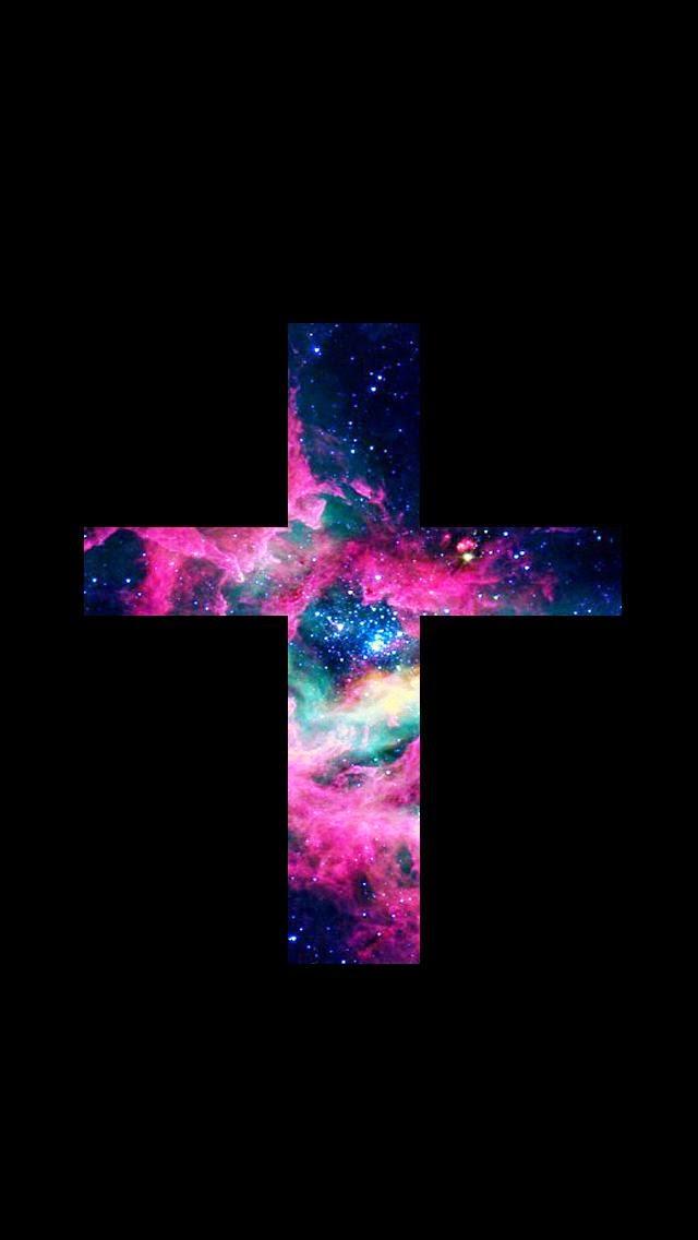 Lovedandsign For Phone Jesus Cross Galaxy Wallpaper Hipster
