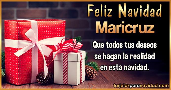 Feliz Navidad Maricruz