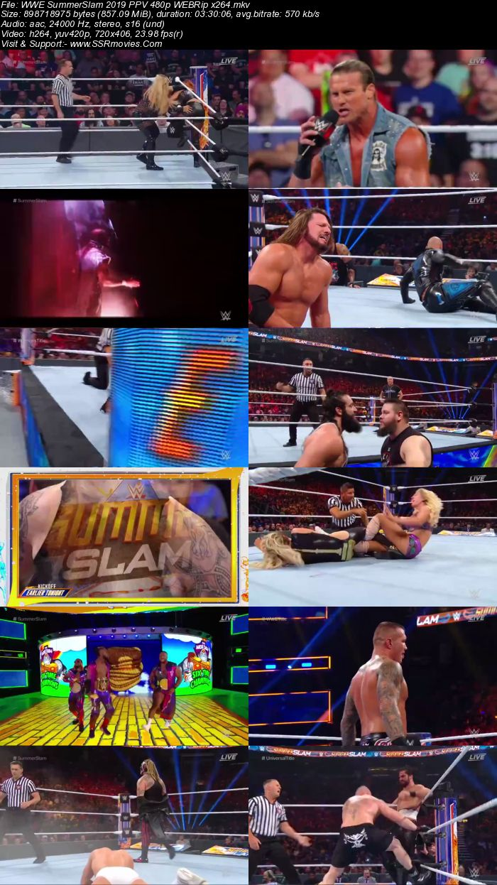 WWE SummerSlam 2019 PPV 720p 480p WEBRip Full Show Download HD