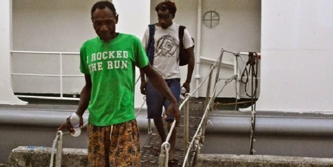 PNG men rescued in FSM after five months at sea, living on fish and rainwater