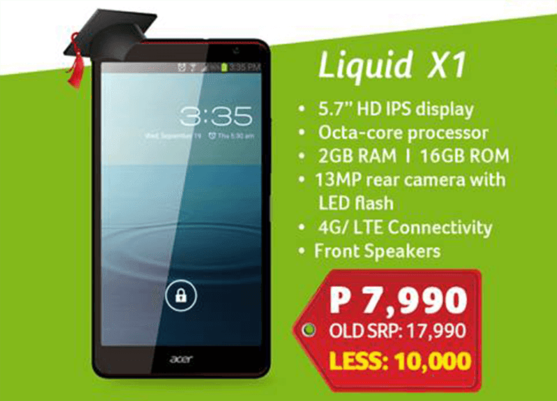 Acer Liquid X1 for 17,990 Pesos!