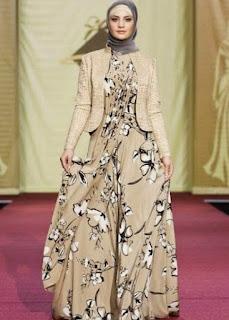 Gamis-Batik-Kombinasi-Blazer-Terbaru
