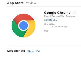 تنزيل جوجل كروم للايفون اخر اصدار