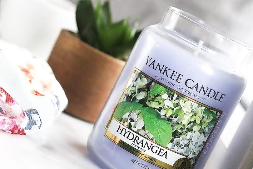 hortensja yankee candle świeca