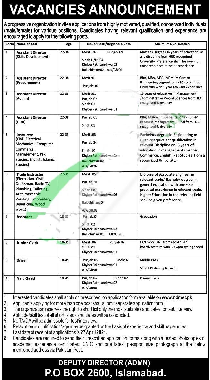 PO Box No 2600 Islamabad Jobs 2021 Latest Government of Pakistan