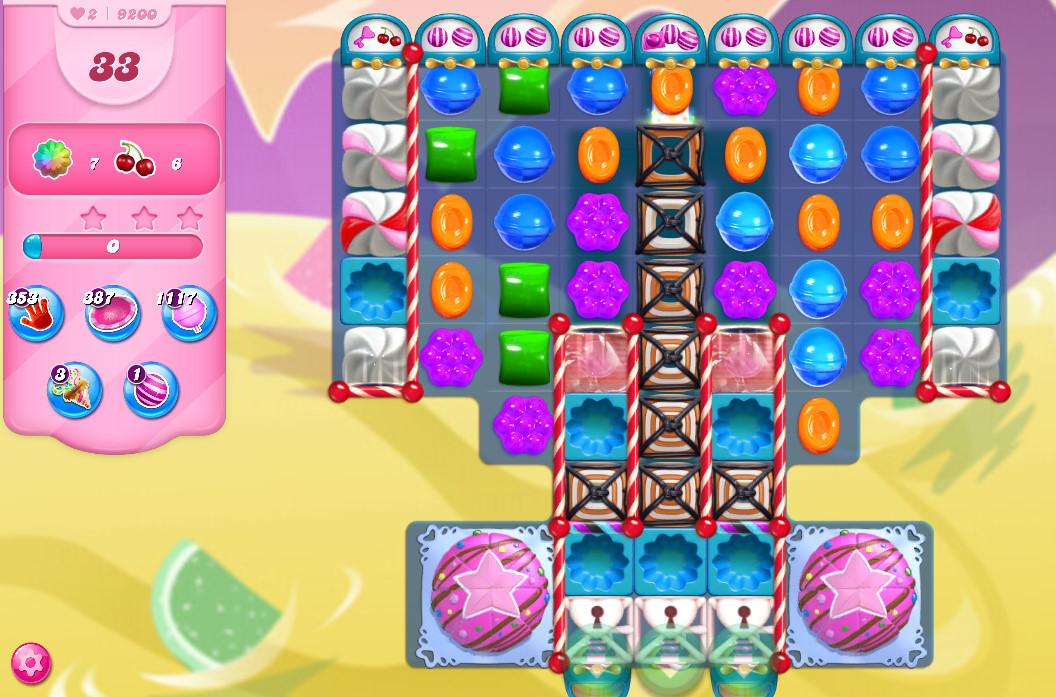Candy Crush Saga level 9200