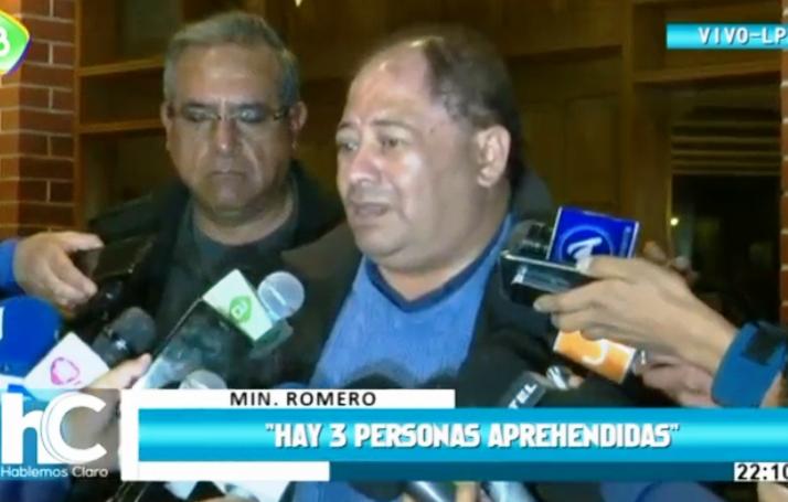 Ministro habló de otras dos personas que podrían elevar la cifra a cuatro muertos / CAPTURA PANTALLA BTV