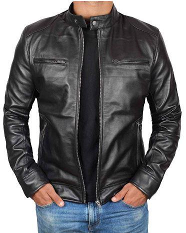 Genuine Black Leather Jacket