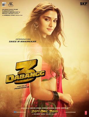 Dabangg 3 poster of Saiee m Manjrekar